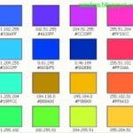 Bảng mã màu cực đẹp cho Blogger