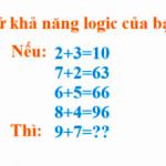 Thử khả năng logic của bạn
