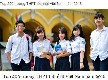 200 trường THPT tốt nhất VN