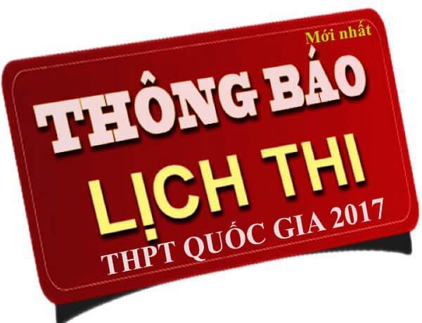 thong tin ky thi thpt 2017